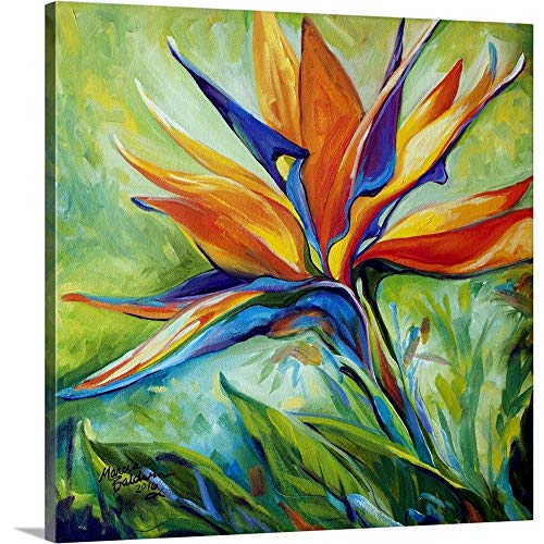 Blessed Day Bird of Paradise Canvas Wall Art Print, 24