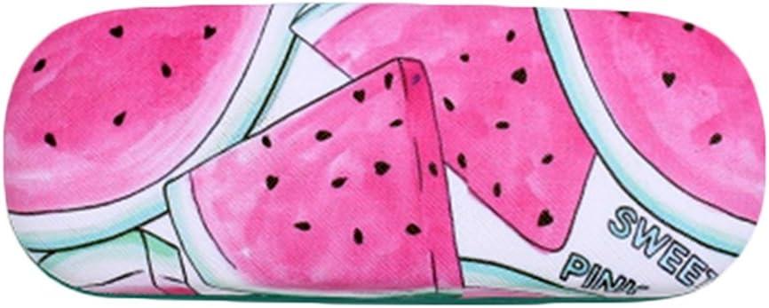 Lumanuby 1x Gemalt Wassermelone Brillen Etui Robustes Mode Obst Hardcase f/ür Damen und Herren Glasses PU Sonnenbrille Fall mit Samteinlage Brillenetuis Serie Size 16.5*6.2*3.9CM