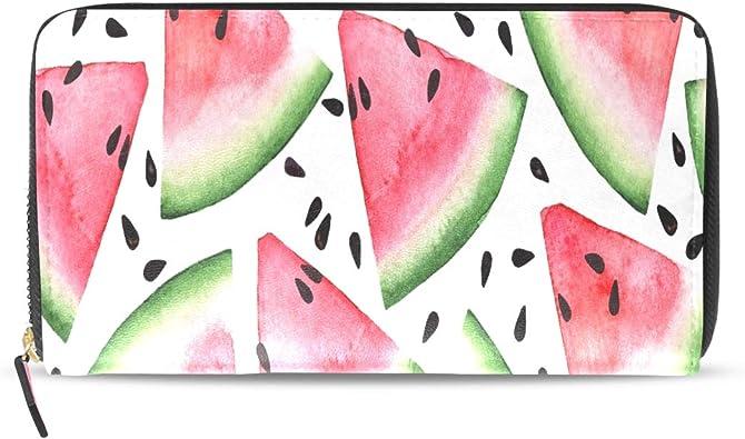 Kawaii Fruta Rosada Verano Sandía Pasaporte Largo Monederos con Cremallera Estuche Monedero Bolso Bolsa Organizador Dinero Titular la Tarjeta Crédito Para Dama Mujer Chica Hombre Regalo Viaje: Amazon.es: Zapatos y complementos