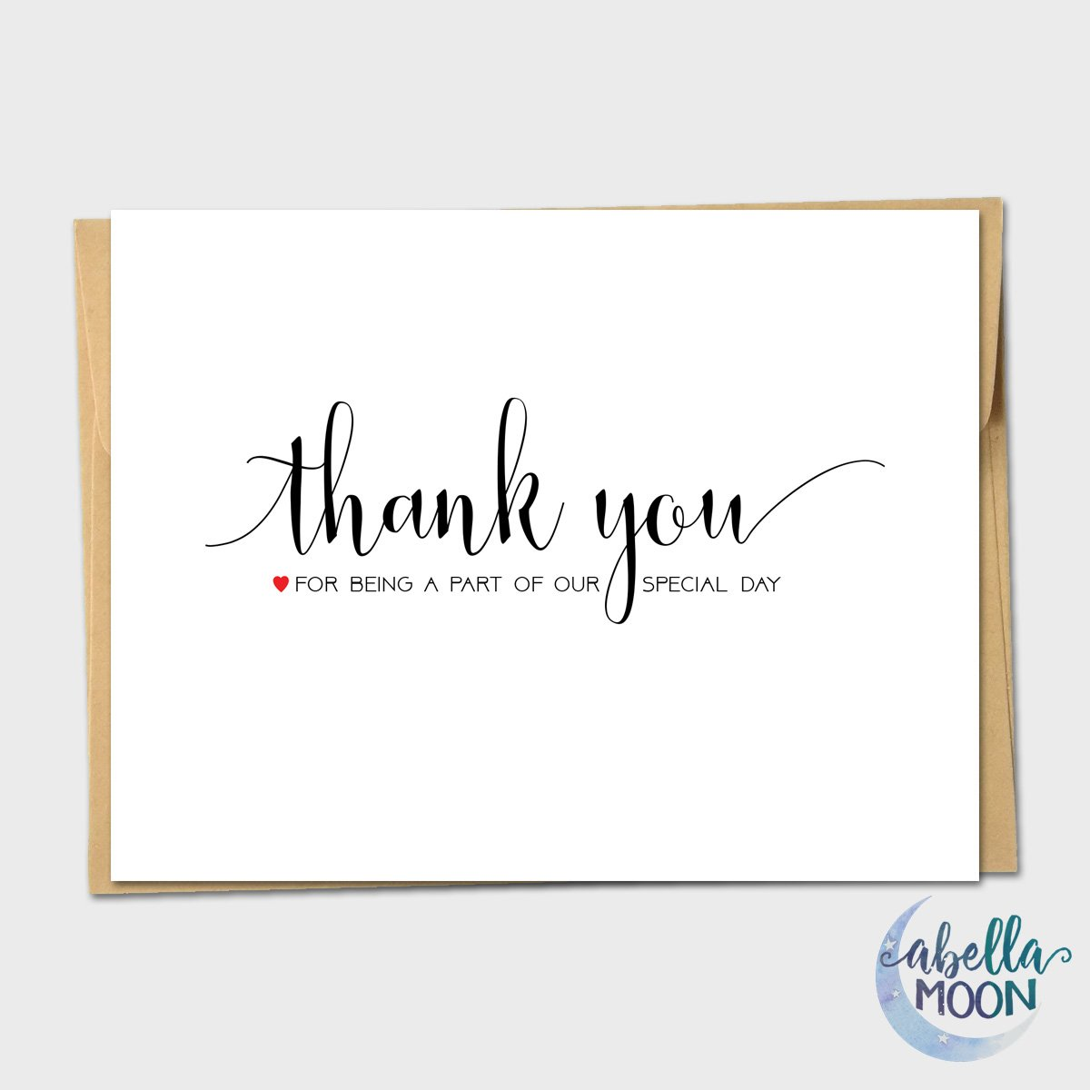 Set of 10 Thank You For Being Part of Our Special Day Wedding Note Cards - Wedding Thank You Card, Thank You Notes, Wedding, Handmade Greeting Card