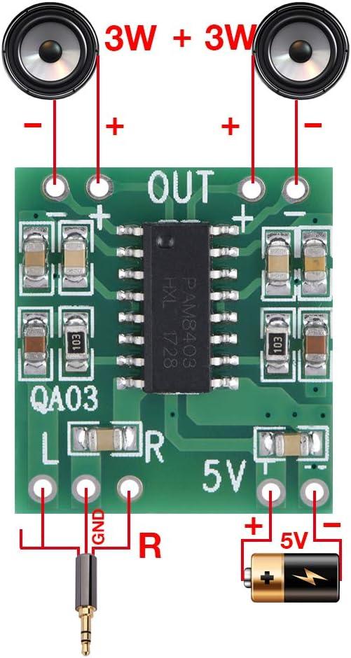 Super Small 3W+3W Type D Power Amp Module 2.5V-5.5V Naroote Dual Channel Power Amplifier,Power Amplifier Module 6pcs Digital Audio Amplifier