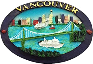 Vancouver Canada 3D Fridge Magnet Souvenir Gift,Home & Kitchen Decoration Magnetic Sticker Vancouver Canada Refrigerator Magnet Collection