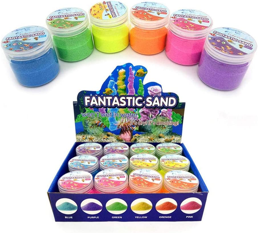 Kids Magic Sand Colored Play Sand Waterproof Space Sand Hydrophobic Sand Toys DIY Sand Drawing Toys For Kids Over 3 Years Old