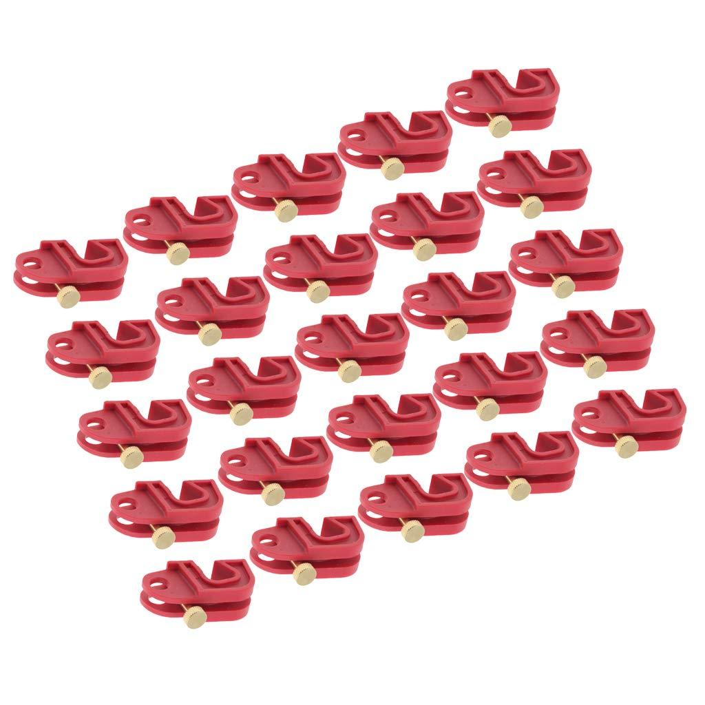 D DOLITY 25 PCS Heavy Duty Red Universal Circuit Breaker Lockout with Screw, Safe