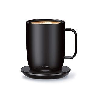 NEW Ember Temperature Control Smart Mug 2, 14 oz, Black, 80 min. Battery Life - App Controlled Heated Coffee Mug - Improved Design