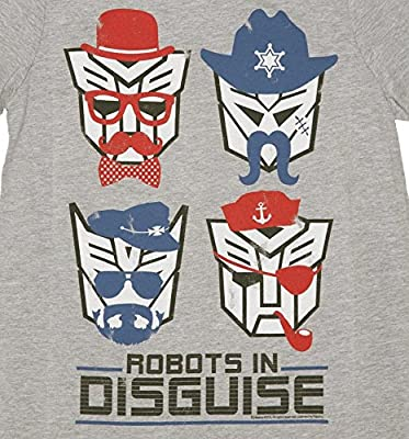 Mens Transformers Retro Robots in Disguise T Shirt