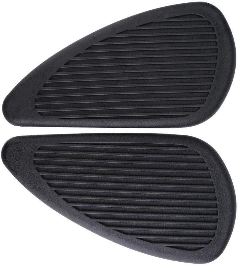 Broco 2pcs Anti-Slip Traction Pad gaz autocollants r/éservoir de carburant protecteur for Retro Motorcycle Noir
