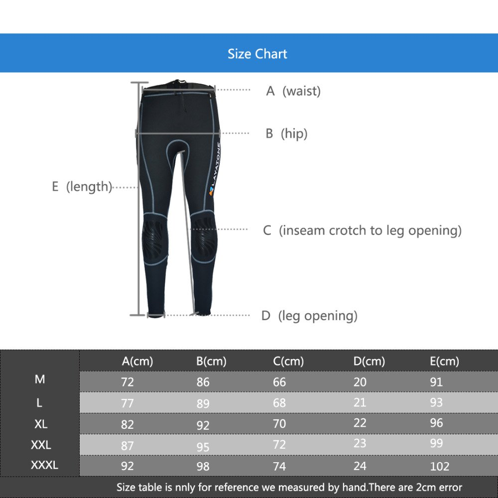 Layatone Wetsuit Pants Men Women Premium 3mm Neoprene Pants Surfing Snorkeling Canoeing Swimming Spearfishing Suit Pants Women Men Adults UV Protection Wet Suits Men Women by Layatone