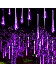 Sneeuw Vallende Regendruppel Ijspegel Lichtslingers - LED Meteor Shower Lights 30cm/8 buis Waterdichte Regendruppellichten,voor Meteorenregen Regen Lichten Trapsgewijze Buiten Binnen Tuin Decor