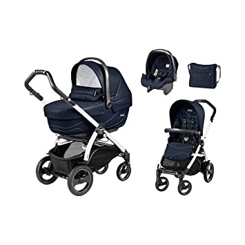 Peg Pérego la conjunto cochecito Book 51 XL S trio-set con bolso cambiador modelo 2017 bebé, Bloom Navy, chasis blanco: PEG-PÉREGO: Amazon.es: Bebé
