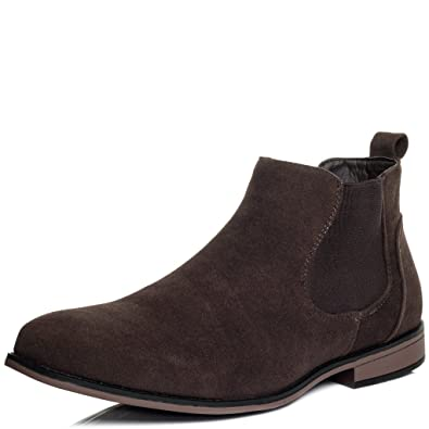 Reissverschluss Flache Chelsea Desert Boots Stiefeletten Synthetik Wildleder Gr 43 nh8rnqPtO