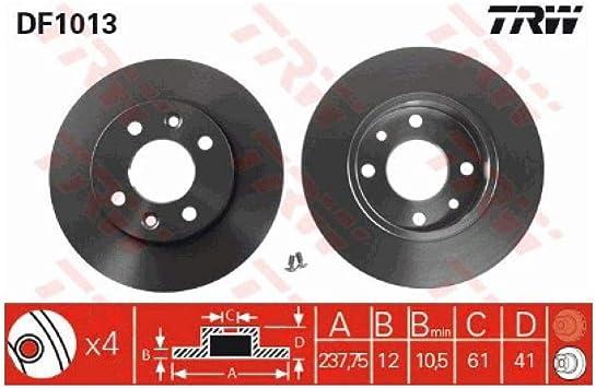 TRW DF4110 Brake Disc Rotors
