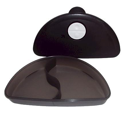 Tupperware negro Crystalwave microondas dividido plato postre ...