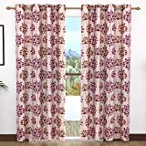 Story at Home Door Curtain, Biege/Maroon, 118cm X 215cm, Dgy2020
