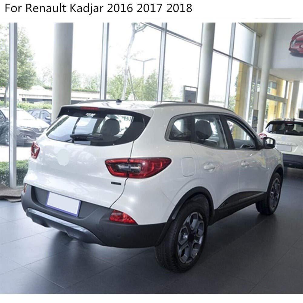 NO LOGO FJJ-JINGGAI Coche del Cromo del ABS Fibra//Carbono Vista Posterior retrovisor Lateral Espejo de Cristal Cubierta tapizada del Marco 2pcs for Renault Kadjar 2016 2017 2018 2019