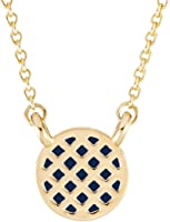 Brook & York Gold Plated Pineapple Design Necklace with Color Enamel (16 inch Chain with 2 inch Extender)
