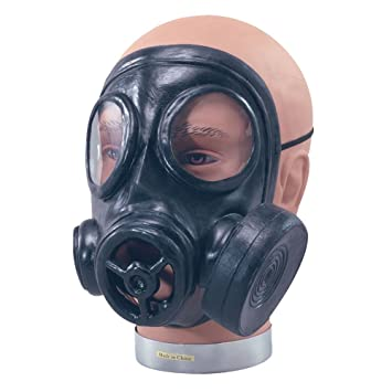 NEW RUBBER GAS MASK 1940S WAR GIMP FANCY DRESS (máscara/careta)
