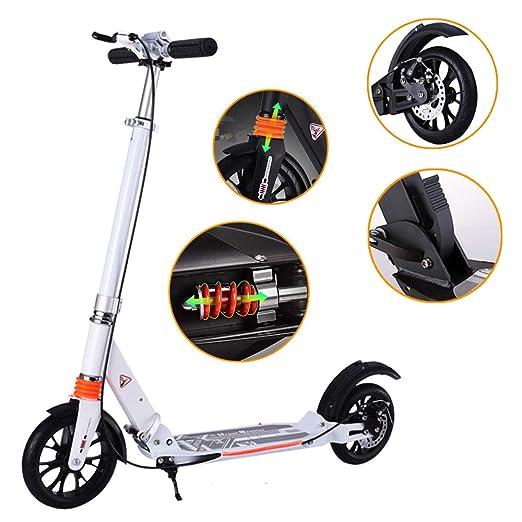 Scooter Adulto - con Sistema De Doble Amortiguación, Frenos ...