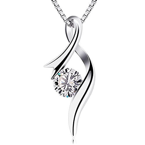 Btcher necklaces 925 sterling silver pendant necklaces cubic btcher necklaces 925 sterling silver pendant necklaces cubic zirconia twist heart jewellery aloadofball