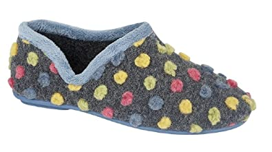 Sleepers JADE Dotted Full Slipper High Quality Light Blue/Multi Knitted Textile