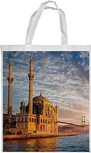 كيس تسوق، بتصميم اسلامي - مسجد ، مقاس وسط
