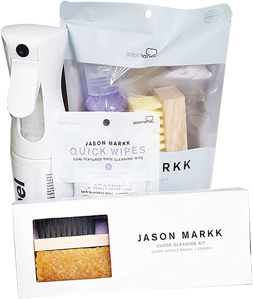 Jason Markk Unisex Repel Spray, Essential Kit, Suede Kit and Shoe Wipes White