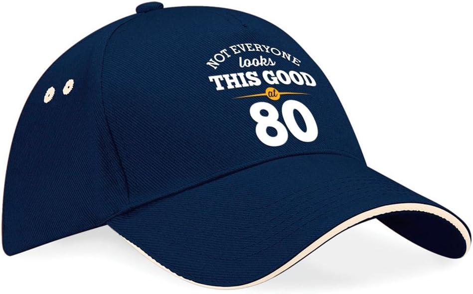 """regalo di compleanno per 80 anni per uomini regalo di compleanno per 80 anni per donne compleanno anno 193 Cappellino con visiera da baseball per 80/° compleanno con scritta /""""Still looking good at 80/"""" regalo di compleanno per gli 80 anni"""