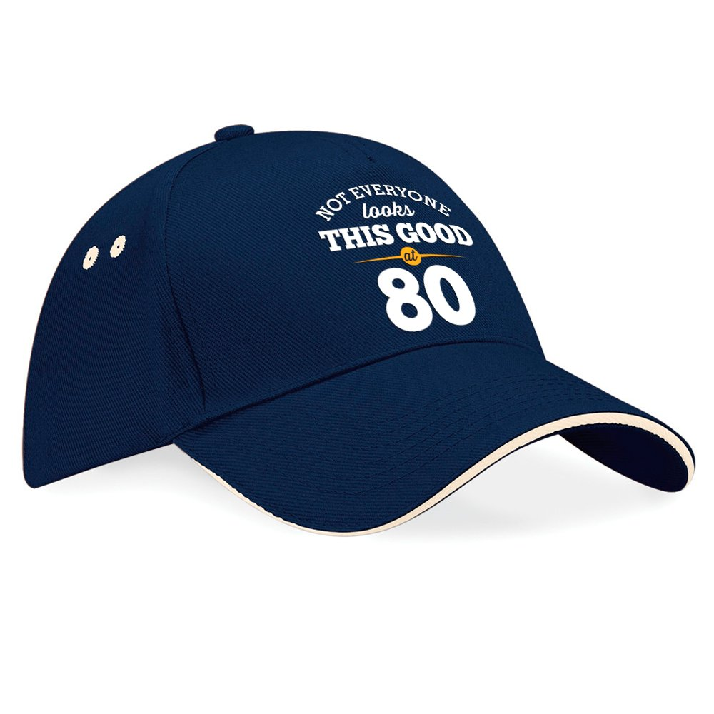 """Cappellino con visiera da baseball per 80° compleanno con scritta """"Still looking good at 80"""", regalo di compleanno per gli 80 anni, regalo di compleanno per 80 anni per uomini, regalo di compleanno per 80 anni per donne, compleanno anno 1936 Taglia unica B"""