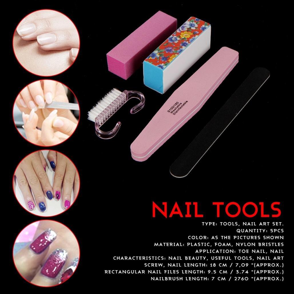 Aribelly 5PCS Nail Art Tools Sanding Files Buffer Block Manicure Pedicure UV Gel Set by Aribelly (Image #8)