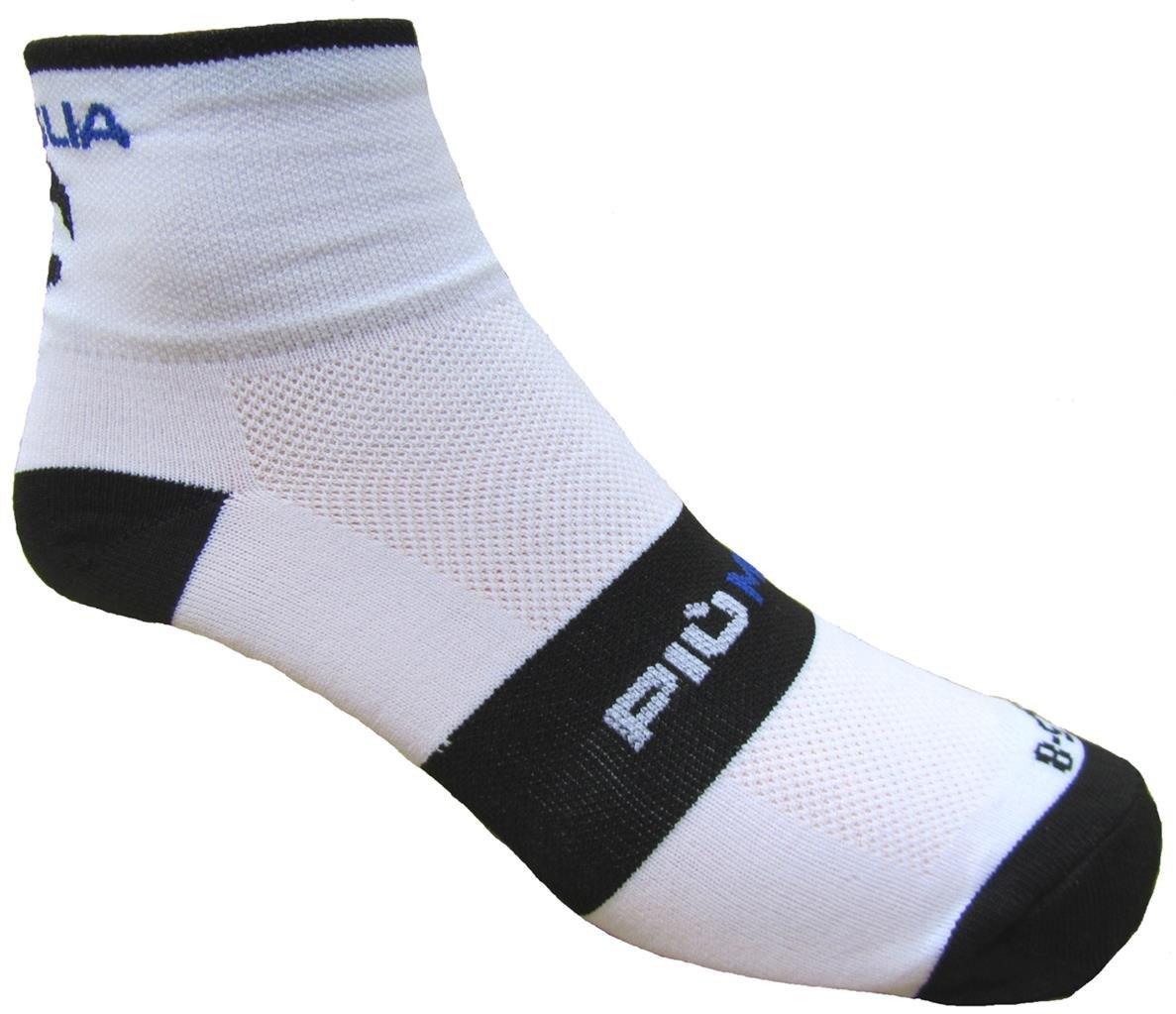 Piu Miglia Monza wei/ß//schwarz//blau Radfahren Socken pm2267