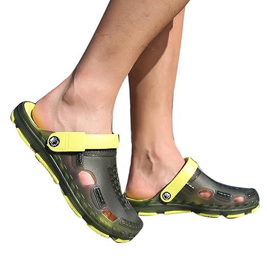 f5094351c9bf Men Summer Slippers Outdoor Casual Sandals Walking Beach Flip Flops Flat  Shoes