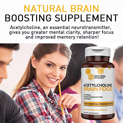 Natural Stacks: Brain Food Box - Brain Supplements -30 Day Supply -  Dopamine, Serotonin, Acetylcholine, and GABA Brain Food - Improves Mood,  Focus,