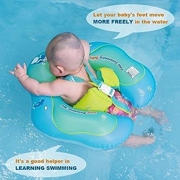 Amazon.com: Flotadores para bebés, anillo de natación sin ...