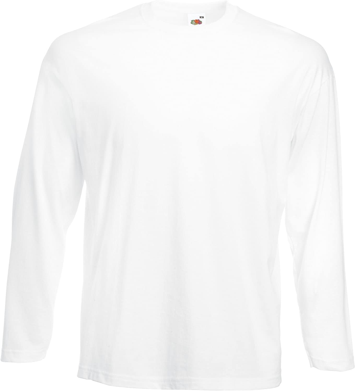 Fruit Of The Loom hommes T-Shirt /à manches longues avec Encolure ronde
