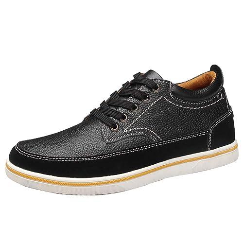 e610362a ailishabroy Zapatillas Hombre Zapatos de Cuero Genuino Zapatillas de Alto  Aumentado 6 cm para Hombre: Amazon.es: Zapatos y complementos