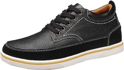 ailishabroy Zapatillas Hombre Zapatos de Cuero Genuino Zapatillas de Alto Aumentado 6 cm para Hombre