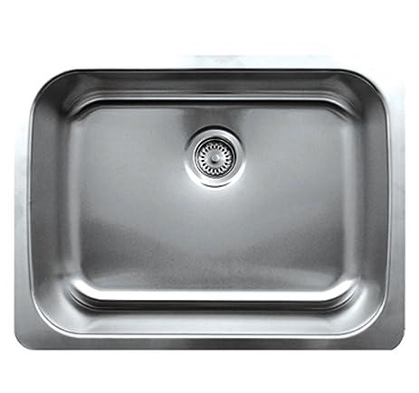 whitehaus whnu2519 bss noah u0027s collection 25 1 4 inch single bowl undermount sink whitehaus whnu2519 bss noah u0027s collection 25 1 4 inch single bowl      rh   amazon com
