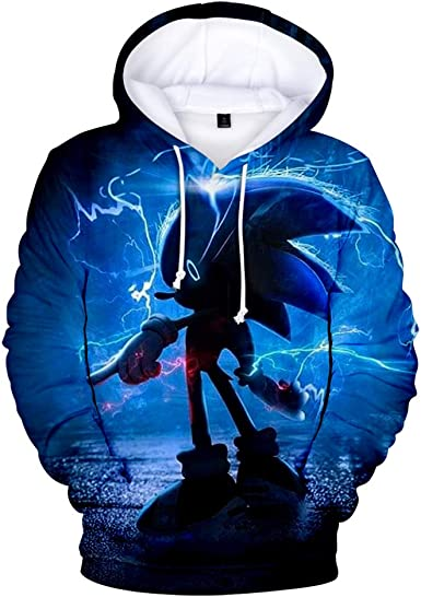Amazon Com Aoxinquji Sonic Hedgehog Unisex Hoodie 3d Printed Hooded Pullover Sweatshirt For Men Women Kids Clothing
