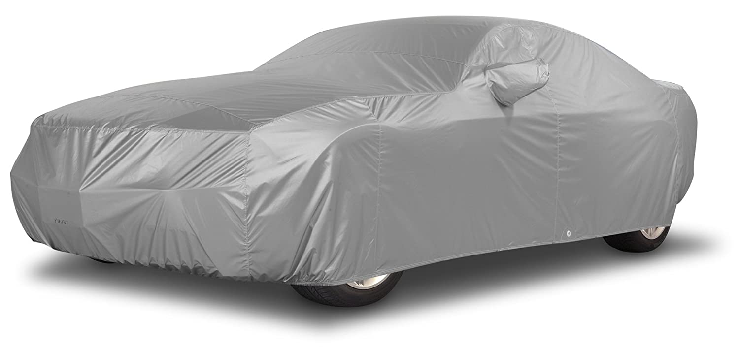 Reflectect Fabric Covercraft Custom Fit Car Cover for Plymouth Sedan Silver