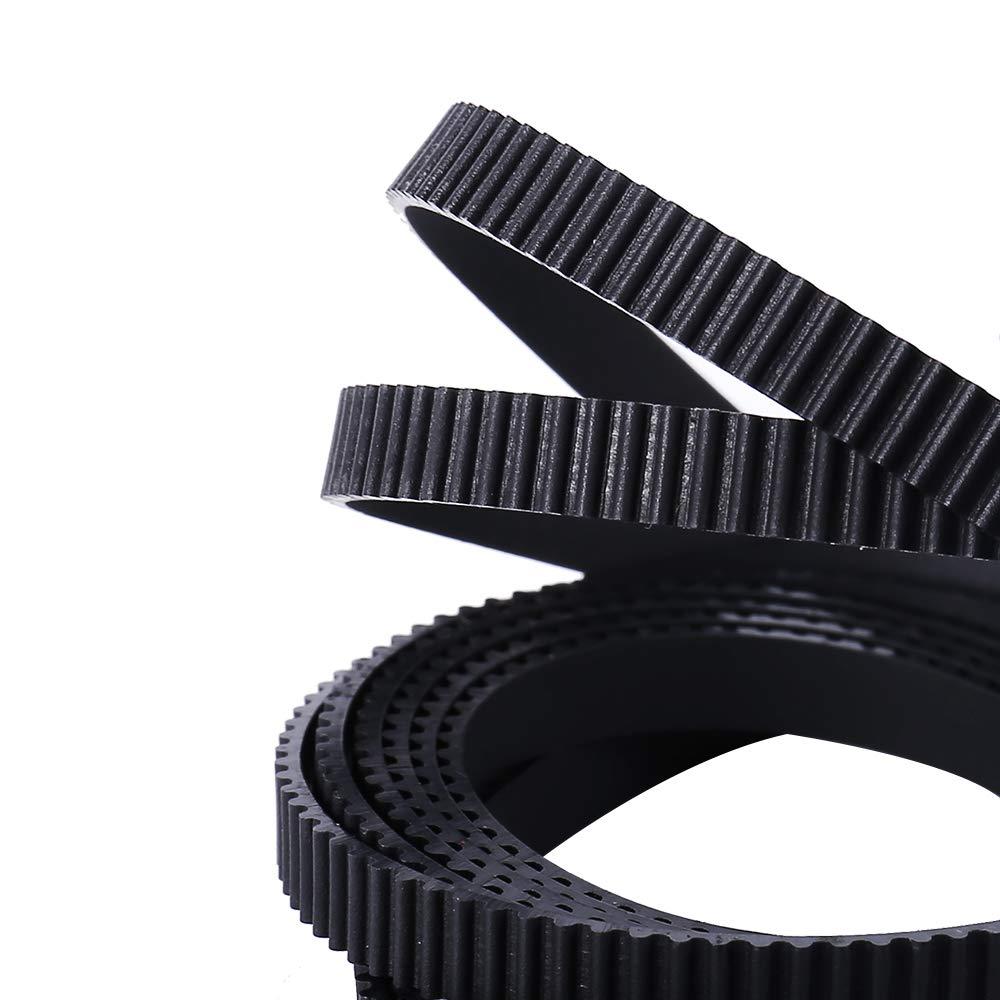 BZ 3D GT2 Correa dentada 6 mm de ancho apta para RepRap Mendel Rostock Prusa Correa antideslizante de alta calidad GT2-6 mm Correa 5//10 metros 3d Impresoras 1