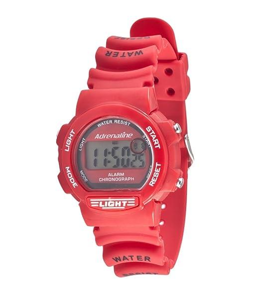 Freestyle AD50703 - Reloj digital de cuarzo para mujer con correa de caucho, color rojo: Amazon.es: Relojes