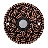 Vicenza Designs D4013 San Michele Round Doorbell, Antique Copper