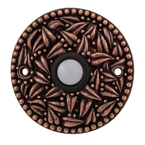 (Vicenza Designs D4013 San Michele Round Doorbell, Antique Copper)