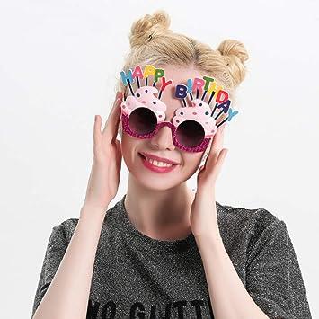 OoB Cumpleaños Gafas Divertidas Lentes Gafas de Sol en Forma ...