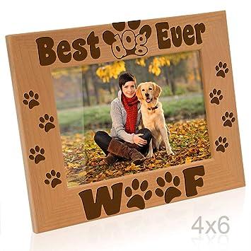 Amazoncom Kate Posh Best Dog Ever Dog Paws And Bones Engraved