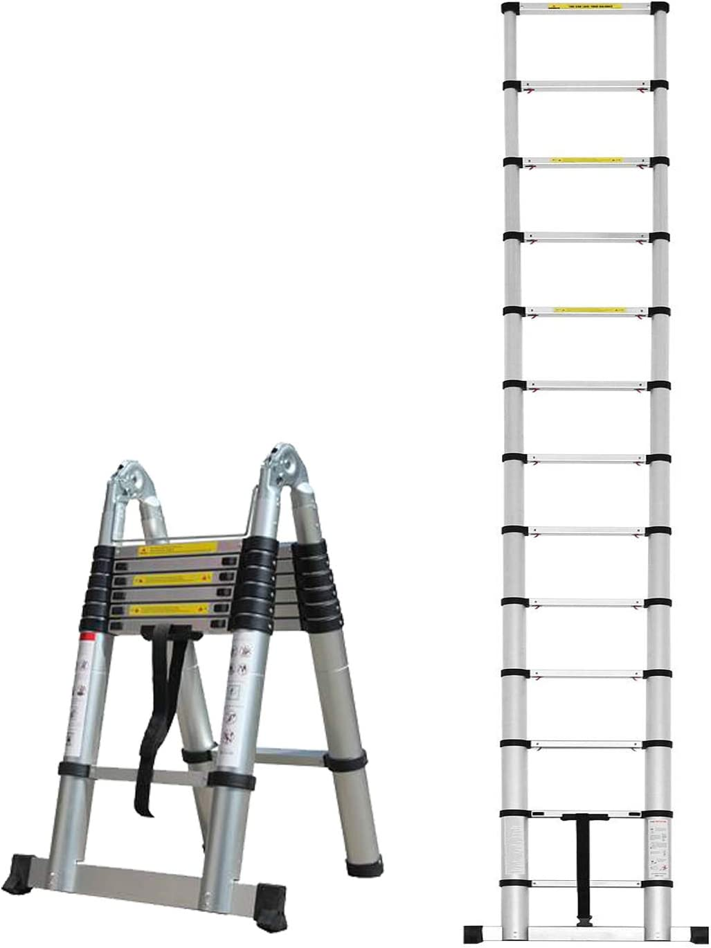 Herzberg HG-5560: Escalera Telescópica de Aluminio Retráctil - 5.60M: Amazon.es: Hogar