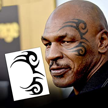 333b6d927a00f Amazon.com : Mike Tyson Tribal Design Temporary Tattoos (2-Pack) | Skin  Safe | MADE IN THE USA| Removable : Beauty