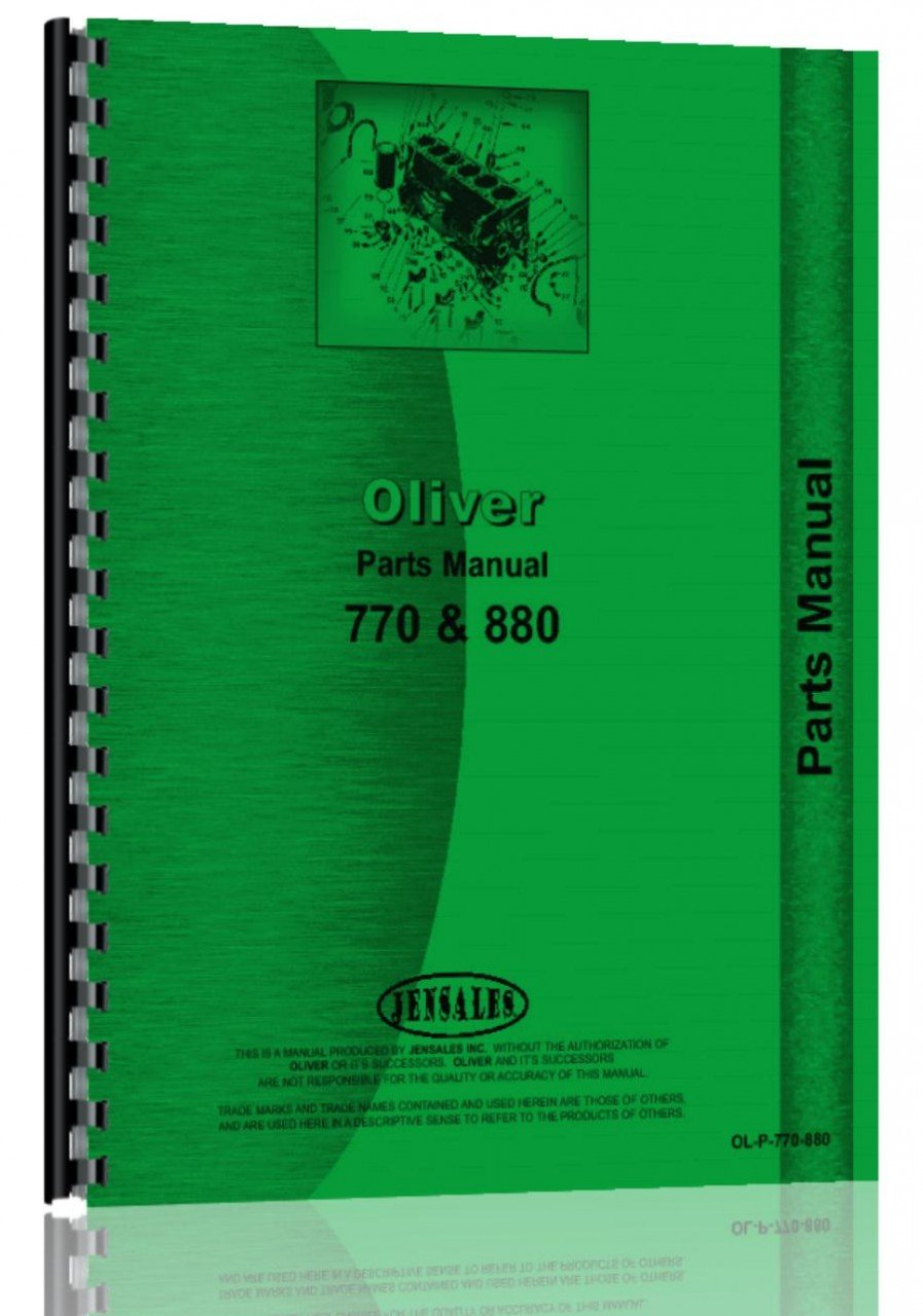 oliver 770 880 tractor parts manual oliver manuals 6301147747495 rh amazon  com Oliver 77 Row Crop Wiring-Diagram Oliver 70 Wiring-Diagram