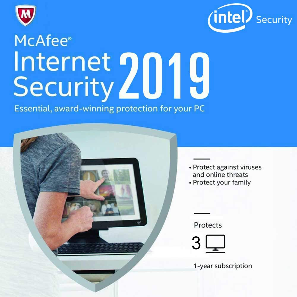 McAfee Internet Security 2018 - 3 PC 1 Year (Activation Code Only) No CD