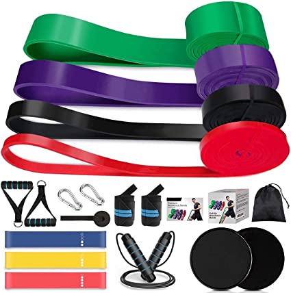 Letsfit Resistance Bands Set Exercise Bands with Handles Training Tubes wit...